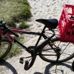 Surfboard racks bike and …. surfboard !